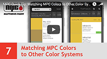 Matching MPC Colors to Other Color Systems