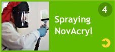Spraying NovAcryl