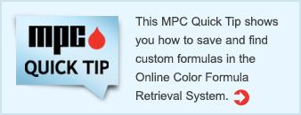 Online Color Formula Retrieval