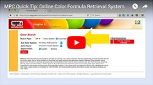 Color Formula Retrieval System